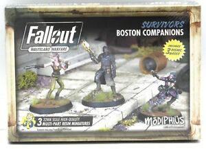 Details about Fallout Wasteland Warfare MUH051260 Boston Companions  (Survivors) Miniatures NIB