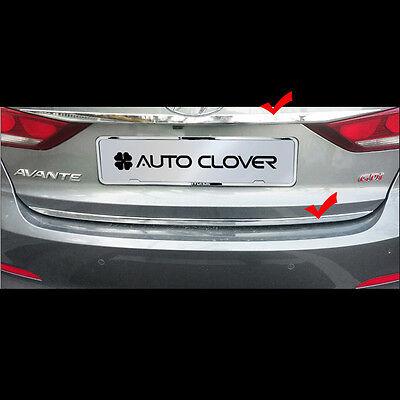 SAFE Chrome Hood Deflectors Bonnet Guard 1pc for 2019 Hyundai Elantra