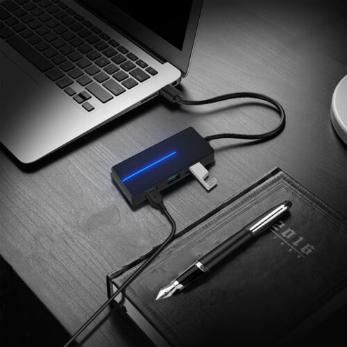 3 Port USB 3.0 Ultra Type C Slim Data Hub Adapter Charger For TF SD Card Reader