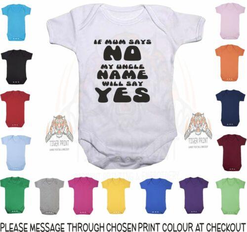 Chaleco de bebé si mamá dice que no se el nombre de mi tío decir sí Bebé Chaleco Bodysuit