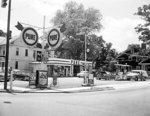 1950-039-s-Service-Gas-Station-Raleigh-NC-Vintage-Old-Photo-8-5-034-x-11-034-Reprint