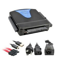 "USB to SATA IDE 2.5"" 3.5"" External HDD Drive Converter Adapter Cable Power"
