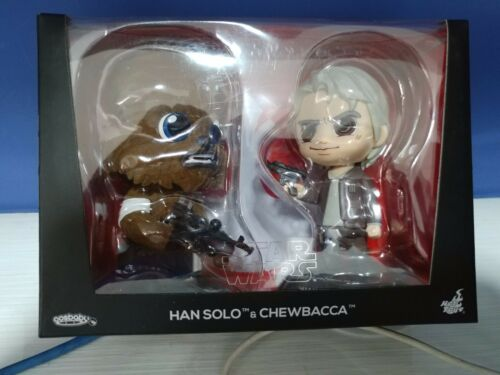 s Hot Toys Cosbaby 406 Han Solo /& Chewbacca Brand New!!