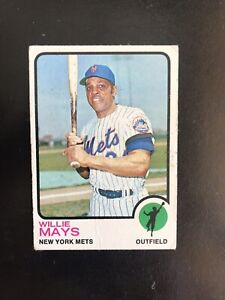 1973 TOPPS #305 WILLIE MAYS HOF NY METS— POPULAR ISSUE💥*** (wph)