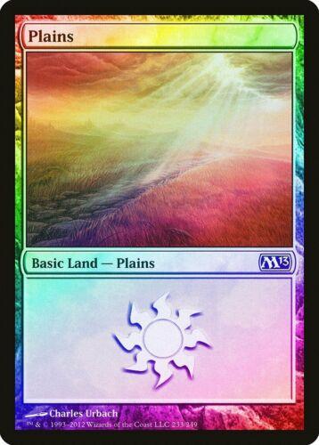 FOIL Magic 2013 M13 NM Basic Land MAGIC GATHERING CARD ABUGames 233 Plains