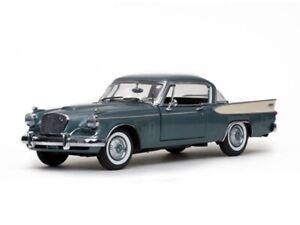 SUNSTAR-6150-6151-STUDEBAKER-GOLD-HAWK-model-cars-Gray-Tiara-gold-1957-1-18th