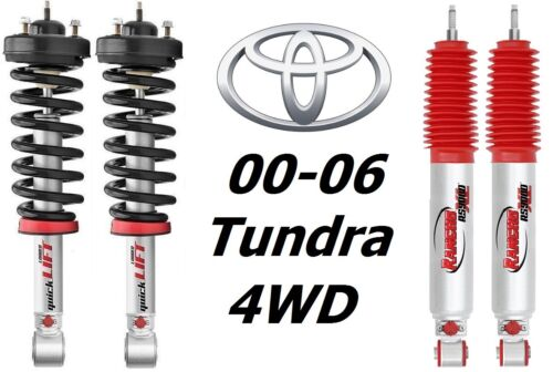 Rancho Front Quicklift Struts /& RS9000XL Rear Shocks For 00-06 Toyata Tundra 4WD
