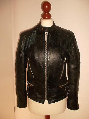 Fedele Vintage Giacca Moto Campri Genuine Apache Giacca Di Pelle Motorcycle Jacket S-mostra Il Titolo Originale