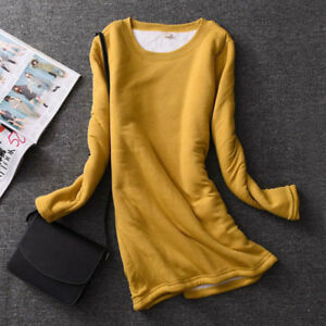 Womens-Winter-Fleece-Lined-Fit-Slim-Shirt-Blouse-Thick-Warm-Thermal-Stretch-Tops