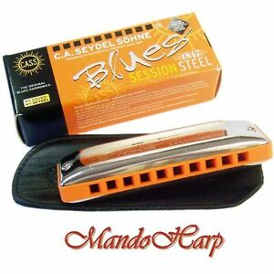 Seydel-Harmonica-10301-Blues-Session-Steel-SELECT-KEY-NEW
