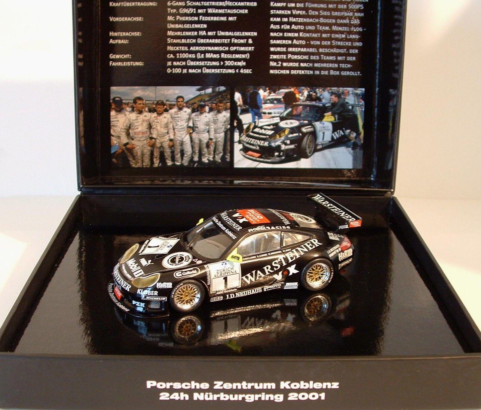 Minichamps 1 43 Porsche 911 GT3R Warsteiner PZK 24h Sieger Nurburgring 2001