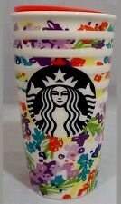 Starbucks Spring 2017 Floral Ceramic Travel Mug Tumbler 10 Oz NEW with tag