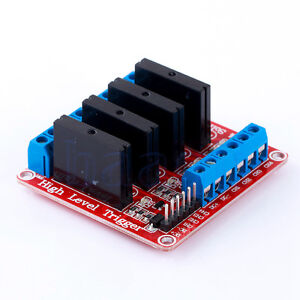 5V 4 Channel SSR Solid State Relay Module With fuse for Arduino uno MEGA2560 R3