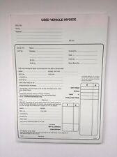Utiliza Automóvil Vehículo Almohadilla de factura de venta comprar & vender coches x5 (Libre P&p)
