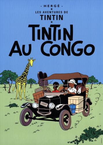 Herge-Les Aventures de Tintin Tintin au Congo-Poster