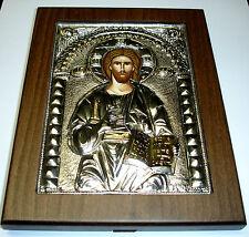 **Silber Oklad Ikone Jesus Christus Pantokrator Silver icon Christ Icone Ikona