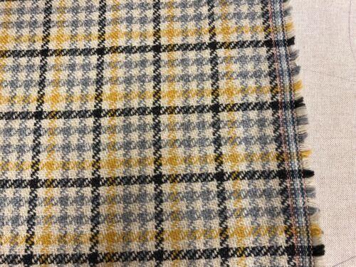 Highland cuadros Amarillo//Azul Gris Tela De Cortina De Tapicería//tipo de lana