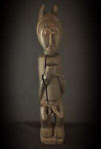 Statue-bois-ancienne-Baoule-Art-Afrique-Africain-Collection-Objet-Usuel-78-cm