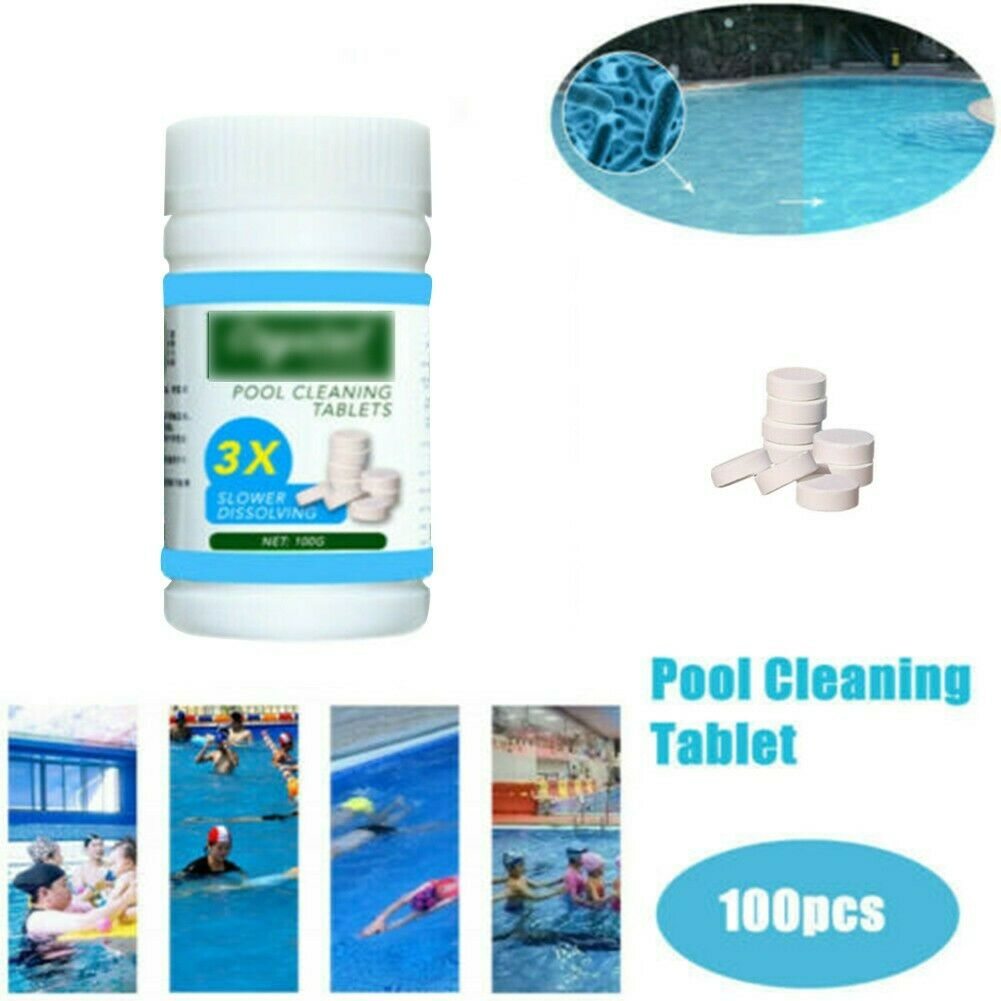 100pcs Swimming Pool Cleaning Tablets Effervescent Tablets Purify Water
