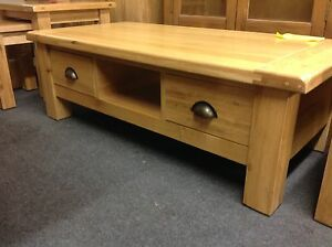 Willis Gambier Normandy Light Oak Coffee Table With Drawers Ebay