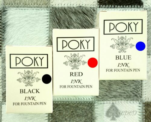free ship 3pcs Poky colour ink BLACK.BLUE. RED free gift fountain pen