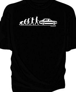 039-Evolution-of-Man-039-classic-car-t-shirt-Ford-Escort-RS2000-Mk1
