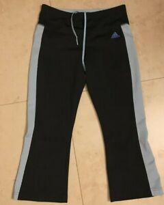 womens adidas capri yoga workout pants  black  s light