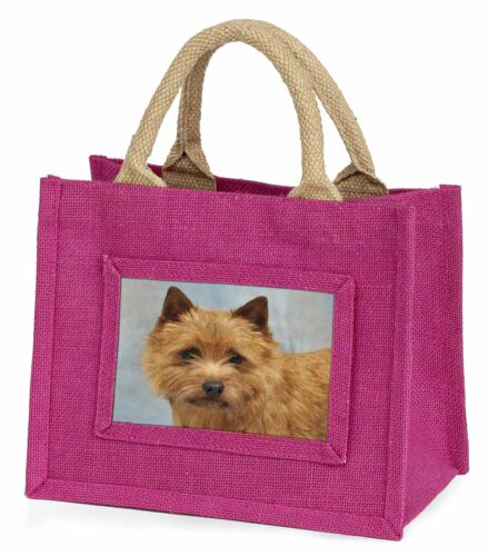 NorfolkNorwich Terrier Dog Little Girls Small Pink Shopping Bag Chri, ADNT2BMP