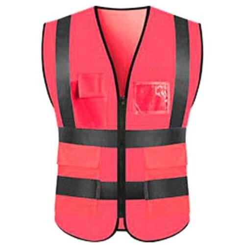 Herren Hi Viz Warnweste Warnschutzweste Sicherheitsweste Arbeits ärmellose Jacke
