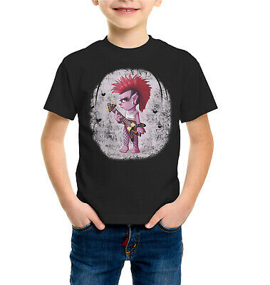 Garçons Filles T-shirts Trolls Rock Queen Barb Court T-shirt manches Tops 100/% coton