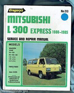 car workshop manual mitsubishi l300 express van 1980 to 1985 ebay rh ebay com au 1991 Mitsubishi Delica 1988 Mitsubishi Delica