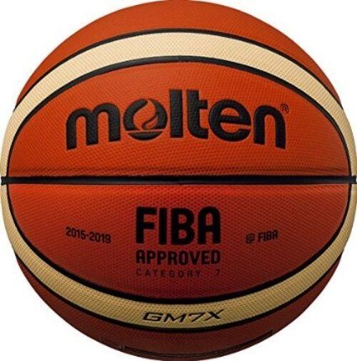 Molten GM7X Basketball Size 7 Mens FIBA Tan Cream Indoor 12 Panel Basket ball