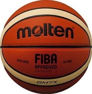 Molten-GM7X-Basketball-Size-7-Mens-FIBA-Tan-Cream-Indoor-12-Panel-Basket-ball