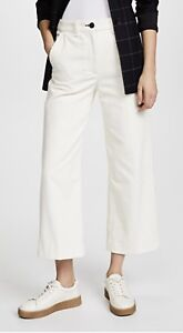big selection many fashionable exceptional range of colors Details about Rag & Bone Women's Lari Wide Leg Cream White Wide Corduroy  Pants Trousers NWT 26