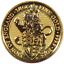2016-U-K-25-Pound-1-4-oz-Gold-Queen-039-s-Beast-BU-The-Lion