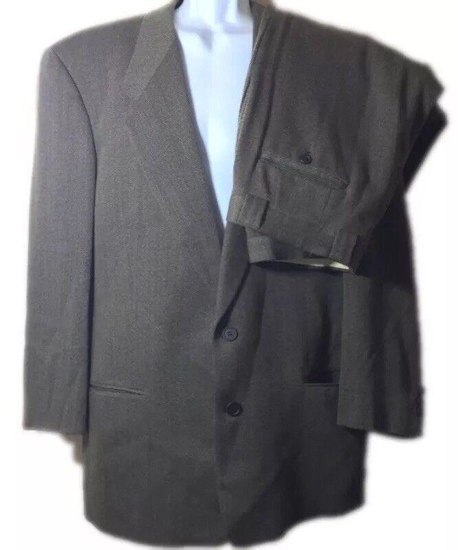 Giorgio Armani Mens Suit Le Collezioni 2pc Wool pants herringbone  Sz 42L