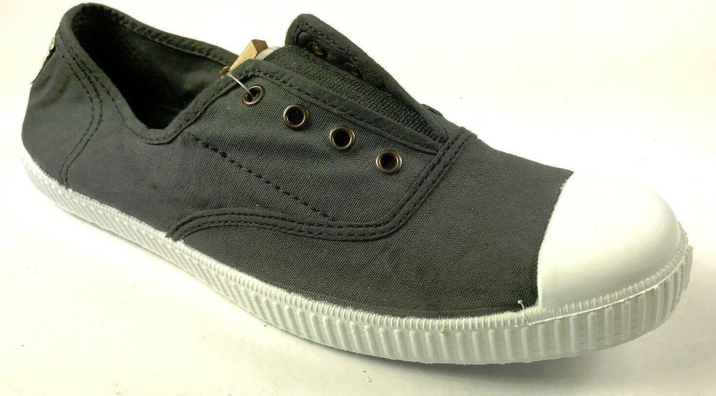 NEW Victoria Footwear Inglesa Elastico. color Plomo. Made in Spain