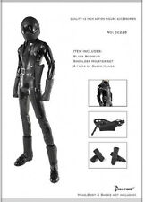 *Brand New* Dollsfigure 1:6 Black Bodysuit w/ 2 Pair Gloves *US Seller*