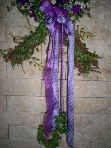 80 cm hoch Deko-Kranz Blütenherz  Wiesenzauber Rattan+Kunststoff  ca