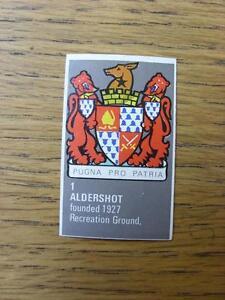 19711972 Bartholomew Football Map Club Badge CutOut 001  Aldershot - Birmingham, United Kingdom - 19711972 Bartholomew Football Map Club Badge CutOut 001  Aldershot - Birmingham, United Kingdom