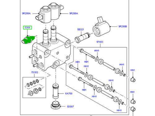 GENUINE LAND ROVER TRANSFER VALVE SENSOR RANGE ROVER SPORT 06-13 NEW RQH500020