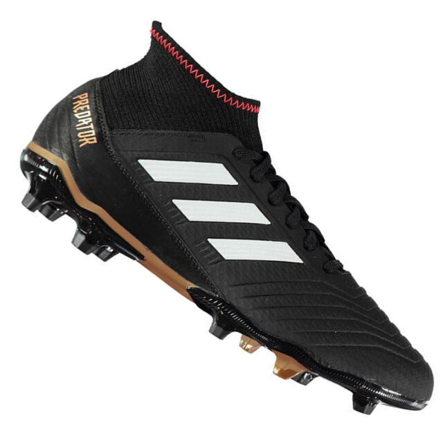 a68e324c0048 Adidas Predator 18.3 Fg Men s Black Football Shoes Cam Shoes Soccer New