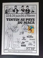 Brochure Tintin au pays du Maca 1984 Timbre 2000 ETAT NEUF