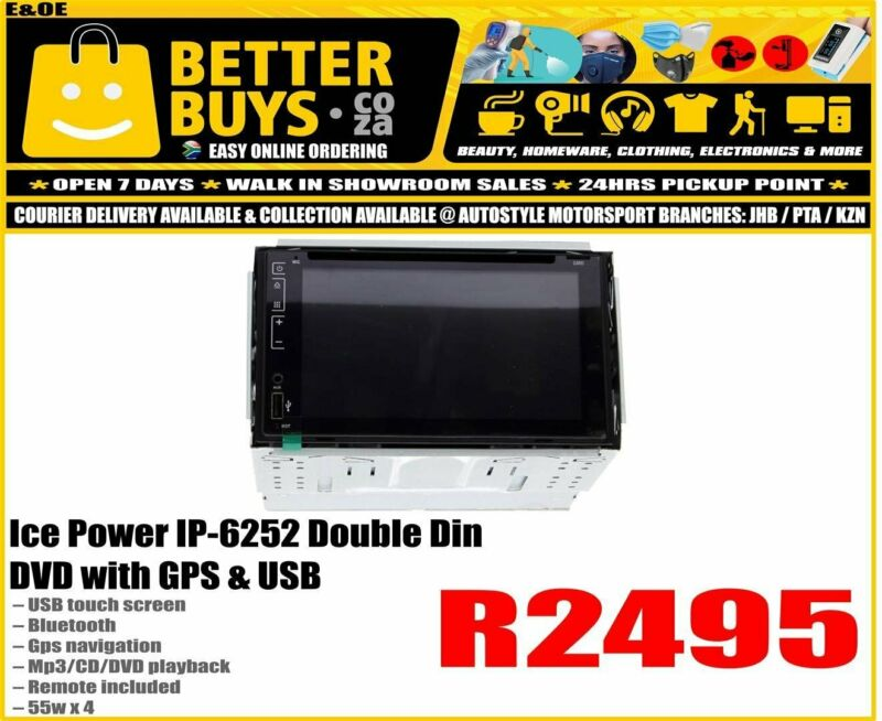 Ice Power IP-6252 Double Din DVD with GPS & USB