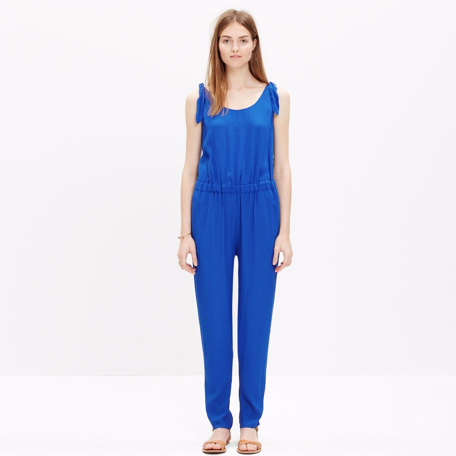 Madewell summer shoulder-tie jumpsuit Blau XS