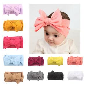 Kid-Girl-Babys-Headband-Toddler-Bow-Hair-Band-Headwear-Soft-Accessories-Pretty