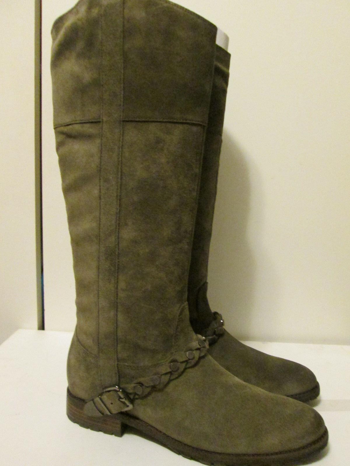 550 Belle by Sigerson Morrison Lyle Vigogna Dakota Suede Knee Hi Boots 8.5 NEW