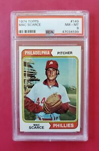 1974-Topps-149-MAC-SCARCE-Phillies-PSA-8-NM-MT-SHARP-amp-CENTERED-WOW