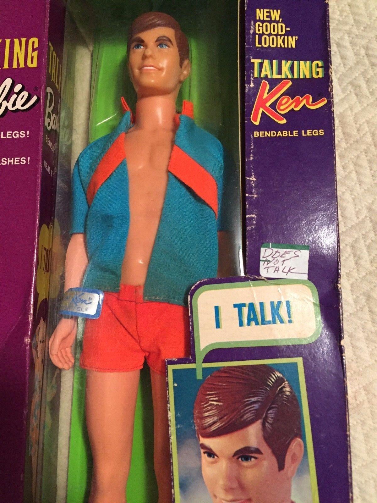 Vintage Muñeca Barbie hablando Ken Mute nunca quitado de la Caja 1970 Mattel