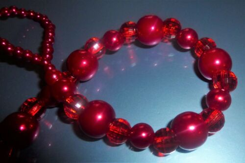 Rich Ruby Reds Romany Crystal Bling Baby Girl gift pacifier dummy clip chain pin